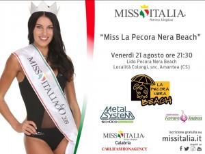 """Miss Italia Calabria continua con le prossime selezioni:  """"Miss La pecora nera Beach"""" e """"Miss Città di Diamante"""""""